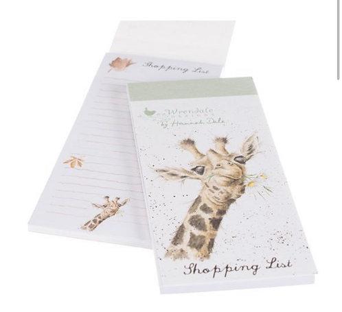Magnetic shopping list - Giraffe