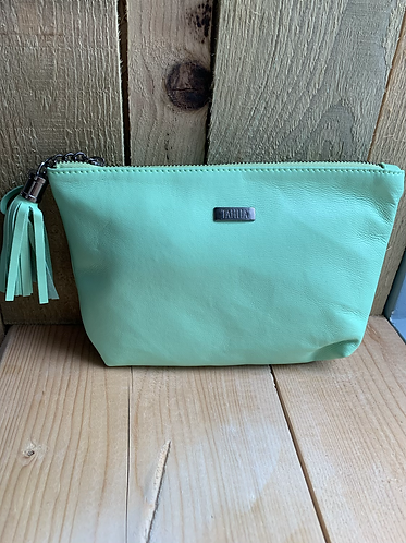 Tahlia Leather Green Pouch