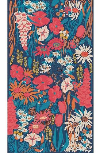 Country Garden Print Scarf - Navy