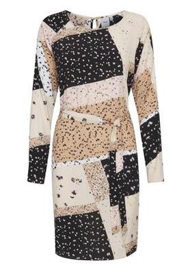 Cream patterned dress