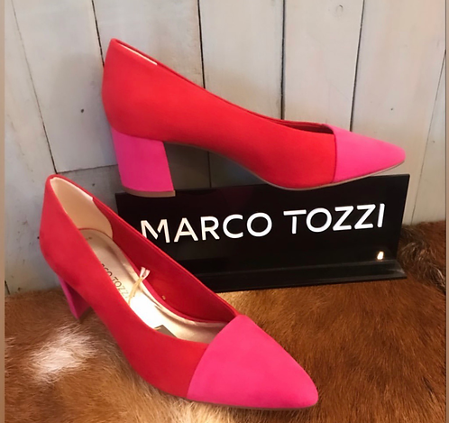Red & pink court shoes