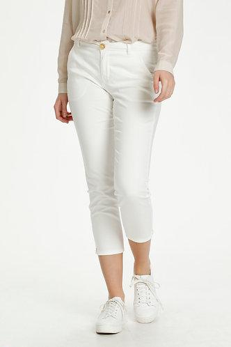 Alba Cropped Pants- White