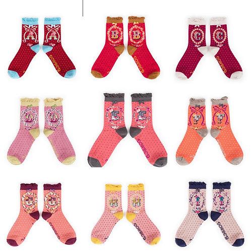 Ladies alphabet socks