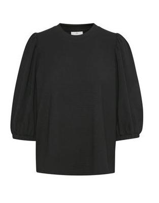 Janna Jersey Blouse -Black