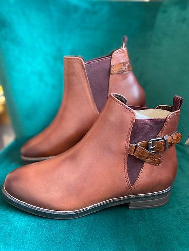 Marco Tozzi - Cognac ankle boot