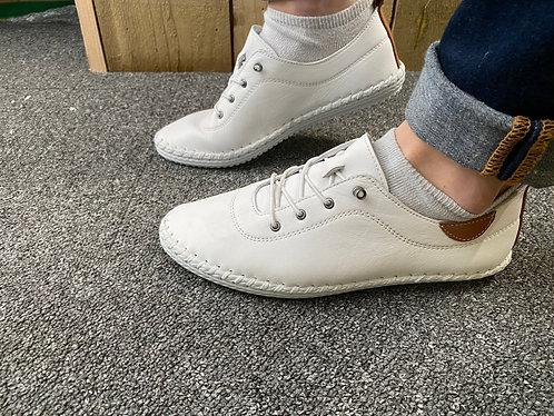 Lunar white leather shoe