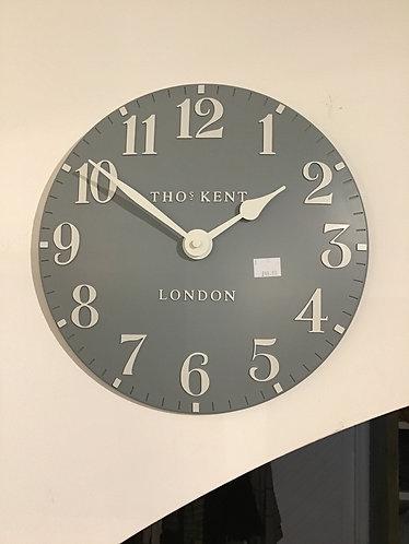 """12"""" wall clock - flax blue"""