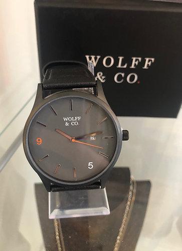 Wolff & Co Watch (Black strap & grey face)