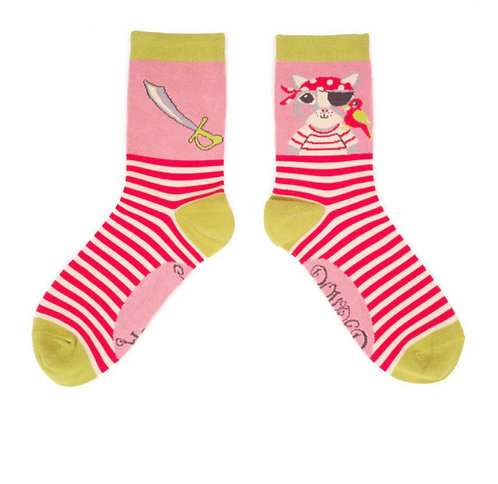 Pirate pussy ankle socks