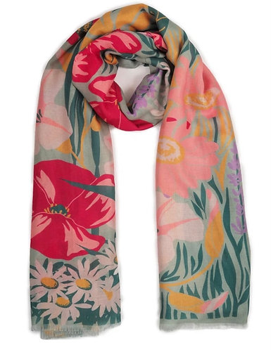 Country Garden Scarf Mint