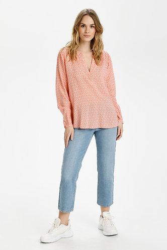 Fana Tilly Blouse- Coral