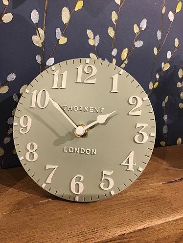 "6"" Mantle Clock - light green"