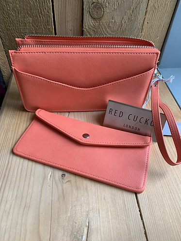 Coral Purse with Separate Wallet