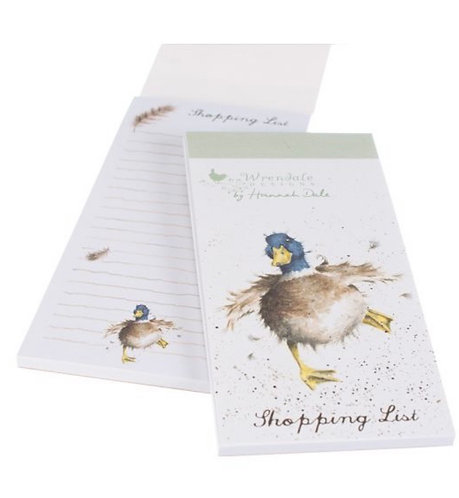 Magnetic shopping list - Duck