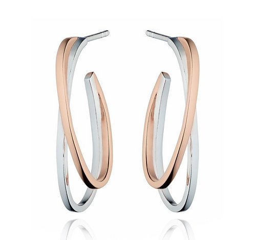 Fiorelli Rose Gold & Silver Hoops