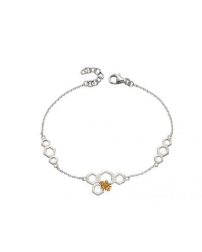 Bee and Honeycomb Bracelet