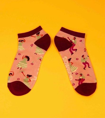 Latin dancers trainer socks