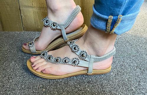 Lunar Charlotte floral sandal - grey