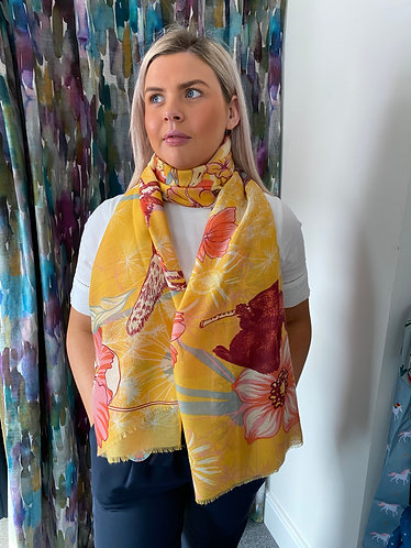 Festival friends print scarf