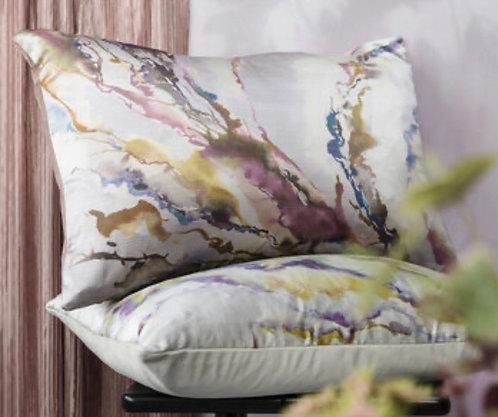 Ink Abstraction Blush Cushion