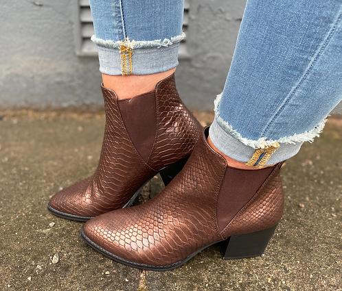 S. Oliver Bronze Metallic boot