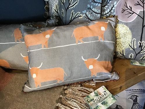 Voyage Maison Highland Bull Cushion