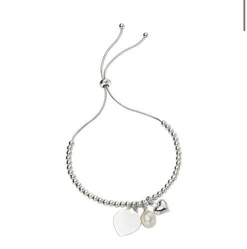Heart Charm Bracelet - ball toggle