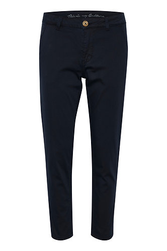 Alba Cropped Pants- Navy