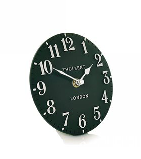 """6"""" Mantle Clock-Forest green"""