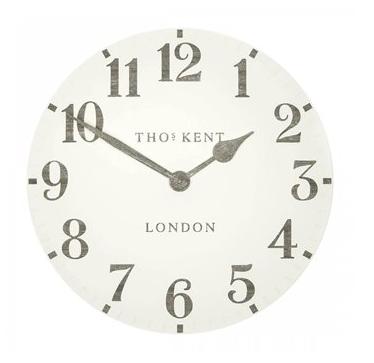 "20"" Wall Clock - limestone"