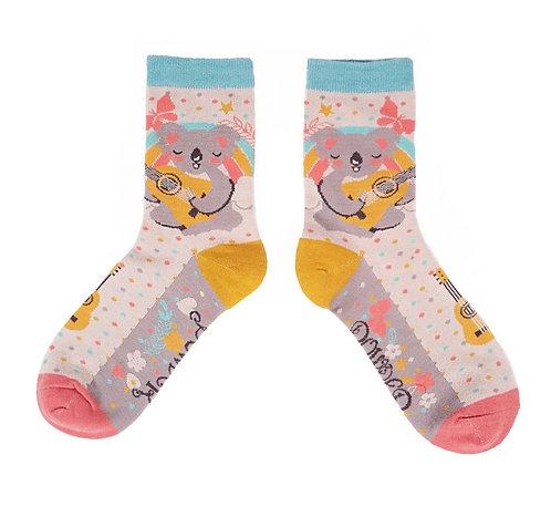Singing Koala ankle socks