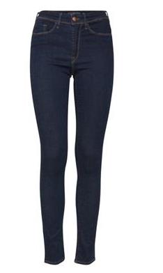 Dark blue denim skinny jeans