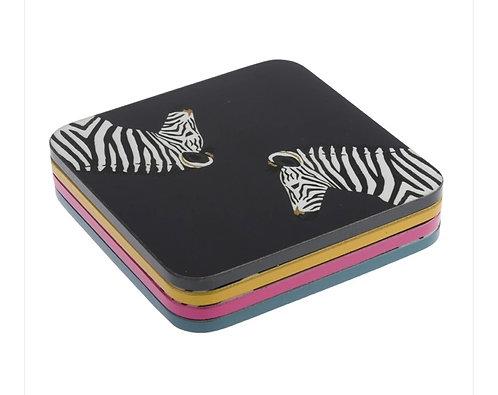 Coasters - zebra