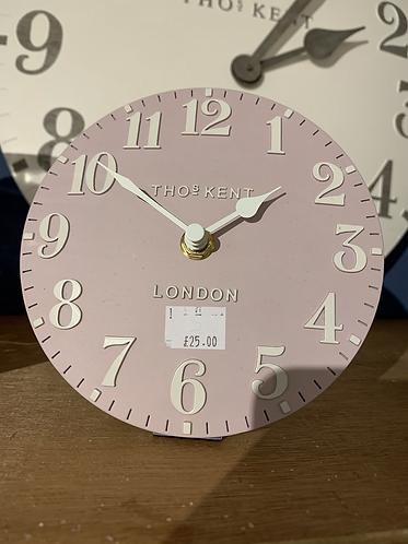 Pale Pink Mantle Clock