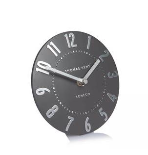 """6"""" Mantle Clock - Silver graphite"""