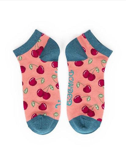 Candy cherries trainer socks