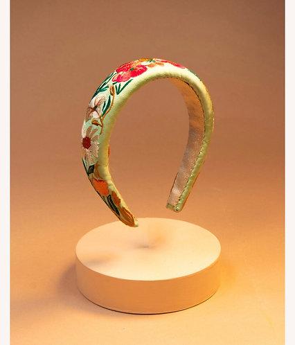 Padded Headband Country Garden - Mint