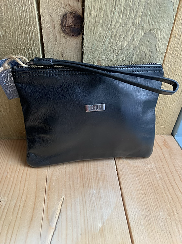Tahlia Leather Black Pouch