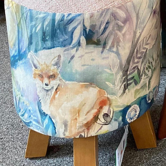 Fox & Hare Footstool