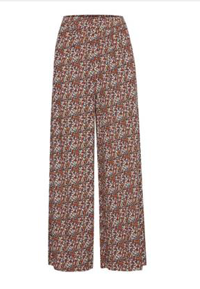 Ditsy print floral trousers