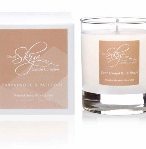Sandlewood & Patchouli glass jar candle