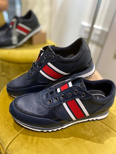 Marco Tozzi - Navy & red comb