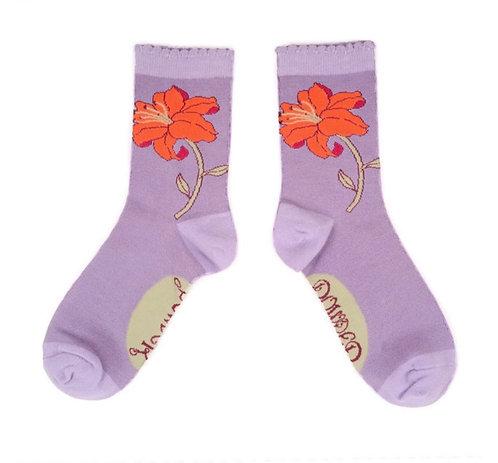 Lily lavender ankle socks