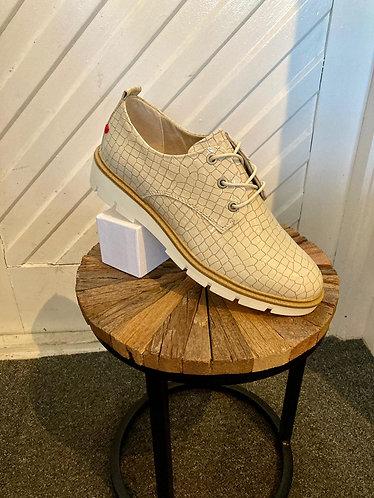 S. Oliver Beige Croc shoe