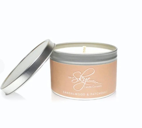 Sandlewood & Patchouli tin candle