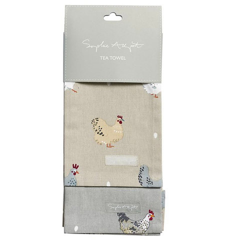 Pack of 2 tea towels - chicken