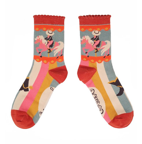Cowgirl ankle socks - mint