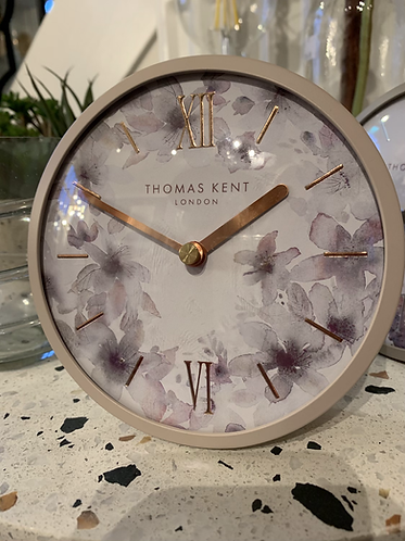 "5"" Mantle Clock- dusty pink"