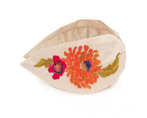Cream floral headband