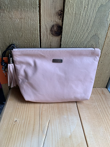 Tahlia Leather Pink Pouch